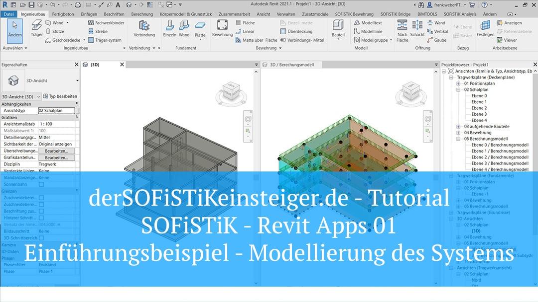 SOFiSTiK Revit Apps 01 – Einführungsbeispiel Modellierung des Systems