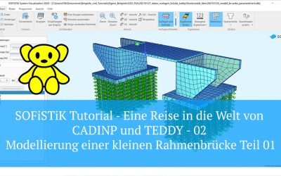 SOFiSTiK Tutorial – CADINP und TEDDY – 02 Modellierung einer kleinen Rahmenbrücke Teil 01