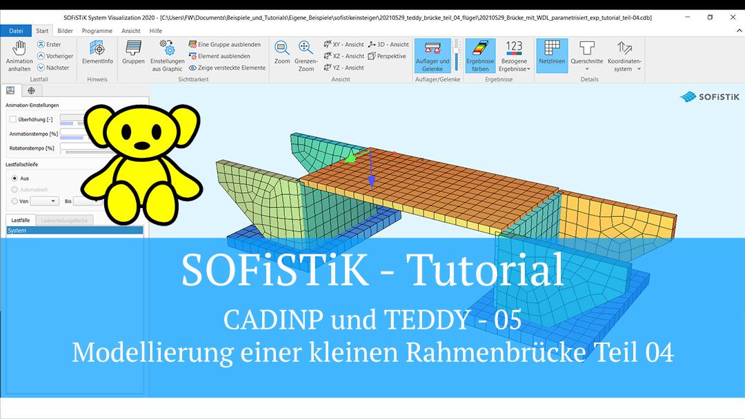 SOFiSTiK Tutorial – CADINP und TEDDY 05 – Modellierung einer kleinen Rahmenbrücke Teil 04