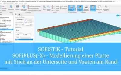 SOFiSTiK Tutorial - SOFiPLUS(-X) Modellierung einer Platte mit Stich an der Unterseite und Vouten am Rand